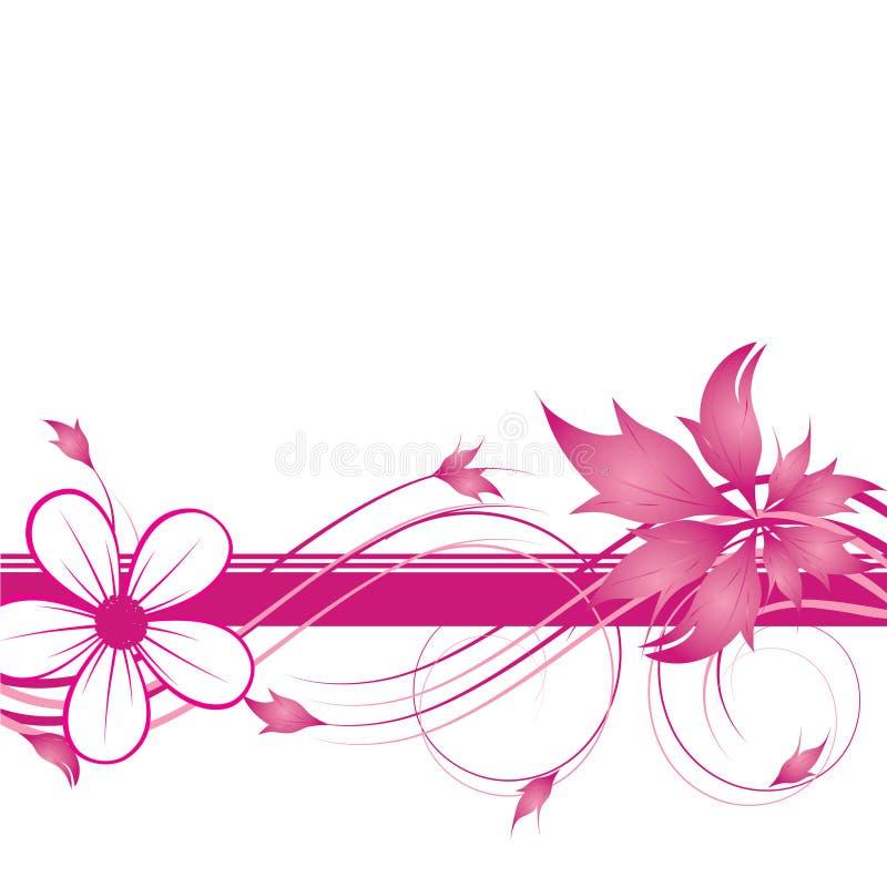 entziehen Sie Blumenhintergrund vektor abbildung