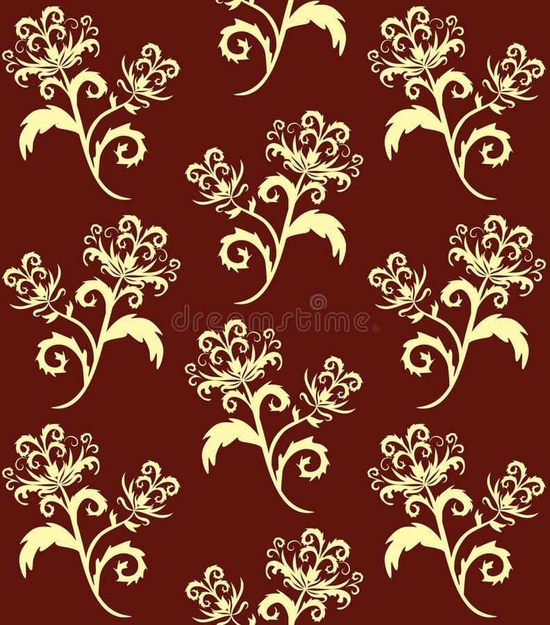 Entziehen Sie Blumenhintergrund. lizenzfreie abbildung