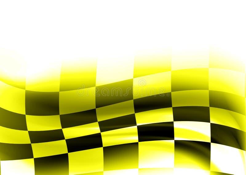Entziehen Sie das Laufen der Markierungsfahne vektor abbildung