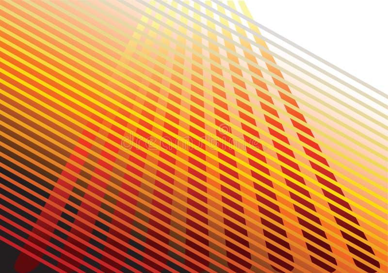 Entziehen Sie diagonalen Hintergrund mit Streifen. stock abbildung