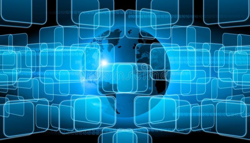 Entziehen Sie die Welttechnologie vektor abbildung