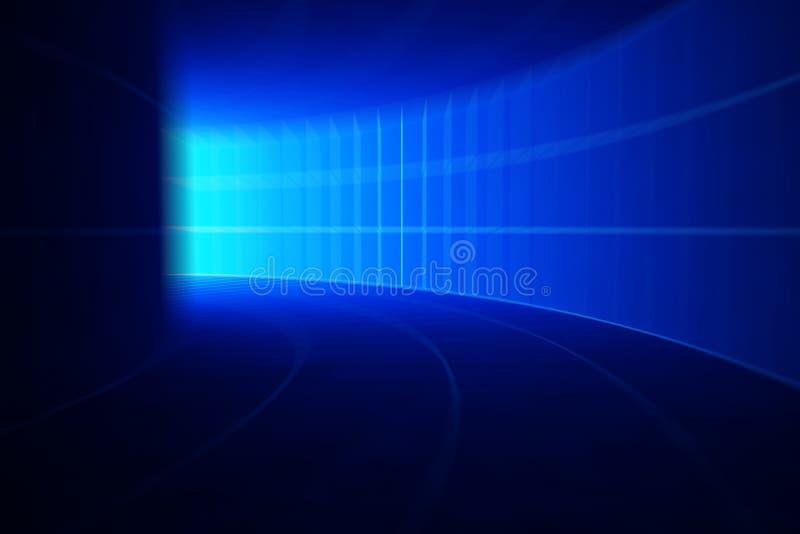 Entziehen Sie Drehzahlbewegung im blauen Datenbahntunnel lizenzfreie abbildung