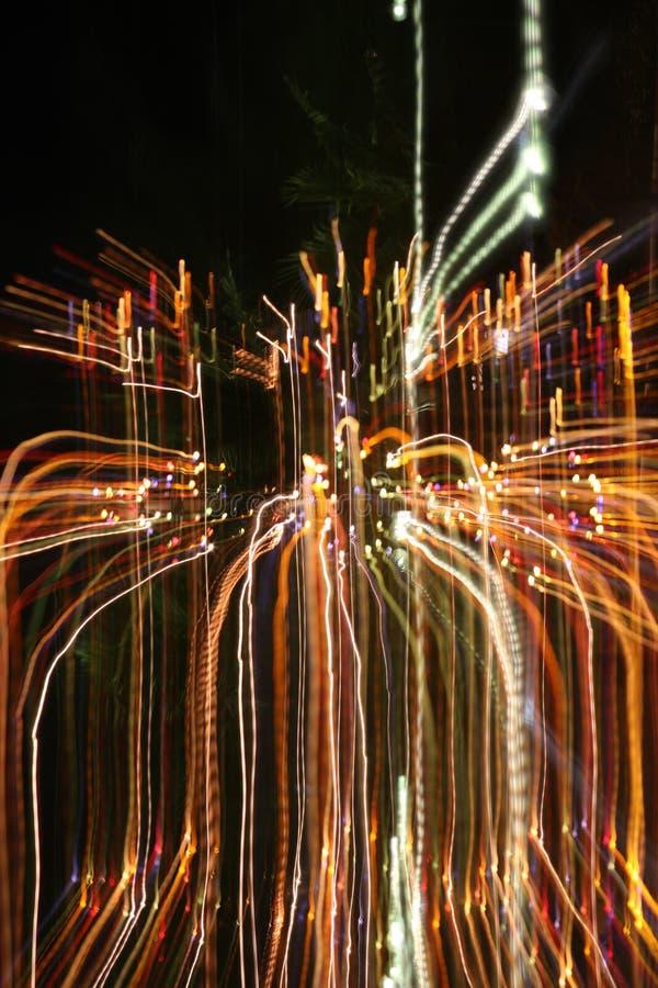 Entziehen Sie farbige Leuchten stockfotografie