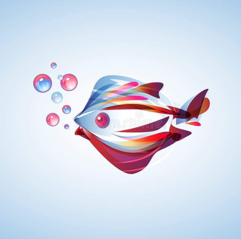 Entziehen Sie Fische lizenzfreie abbildung