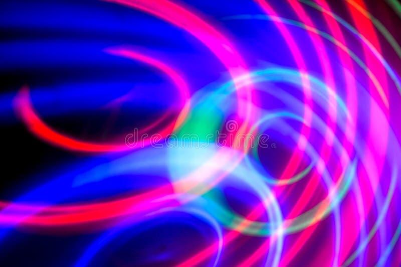 entziehen Sie Hintergrund Blaue, grüne und purpurrote Kreise lizenzfreie stockfotos