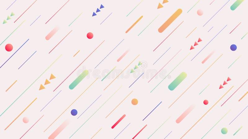 entziehen Sie Hintergrund Minimales geometrisches Design Dynamische Formzusammensetzung vektor abbildung