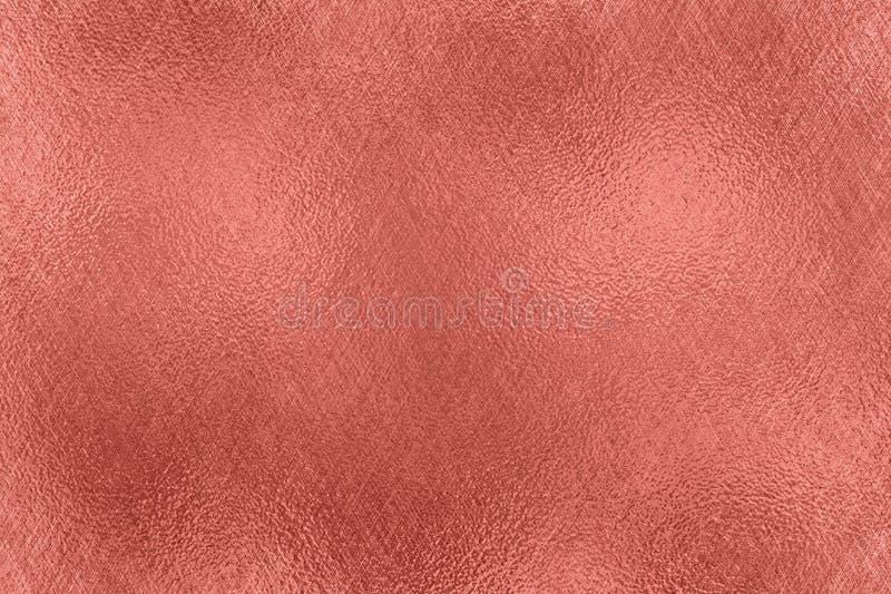 entziehen Sie Hintergrund Rose Gold-Folienbeschaffenheit lizenzfreie abbildung
