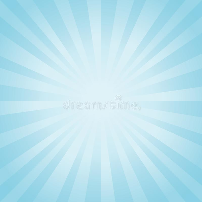 entziehen Sie Hintergrund Weicher hellblauer Strahlnhintergrund Vektor ENV 10 cmyk lizenzfreie abbildung