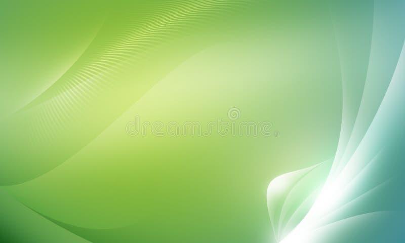 Entziehen Sie Hintergrundgrün stock abbildung