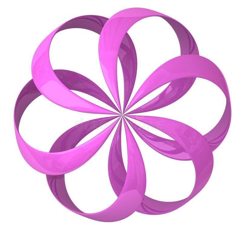 Entziehen Sie Ikone der Blume 3d vektor abbildung