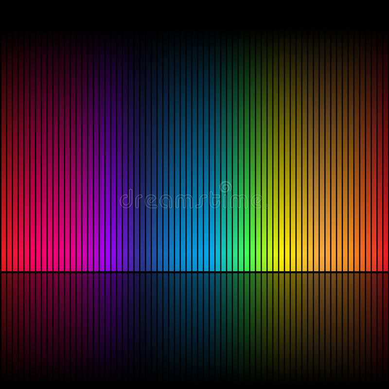 Entziehen Sie Regenbogenfarben 1 vektor abbildung
