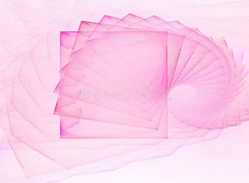 Entziehen Sie rosafarbene Schnecke stock abbildung