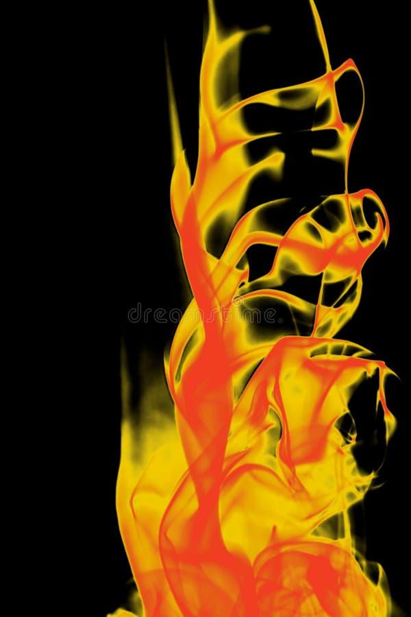 Entziehen Sie rote gelbe Feuerform lizenzfreie stockfotos