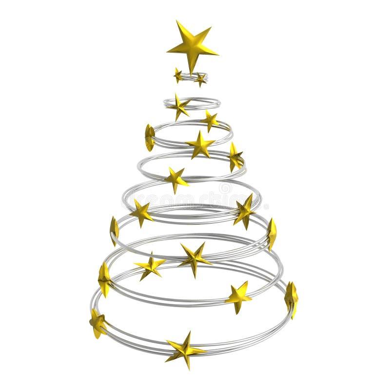 Entziehen Sie Weihnachtsbaum lizenzfreie abbildung