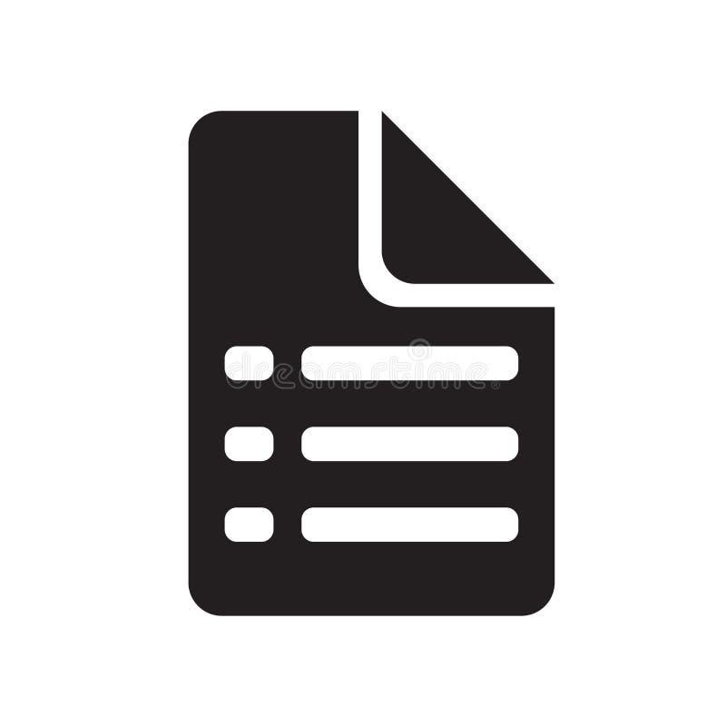 Enumere la muestra y el símbolo del vector del icono aislados en el fondo blanco, concepto del logotipo de la lista libre illustration
