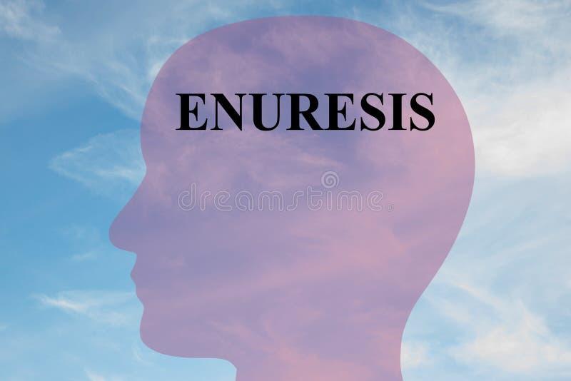 Enuresis - mentalt begrepp stock illustrationer