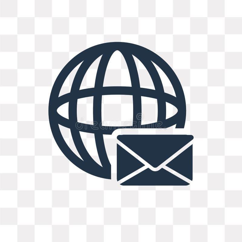 Envíe el icono del vector aislado en el fondo transparente, transporte del correo libre illustration