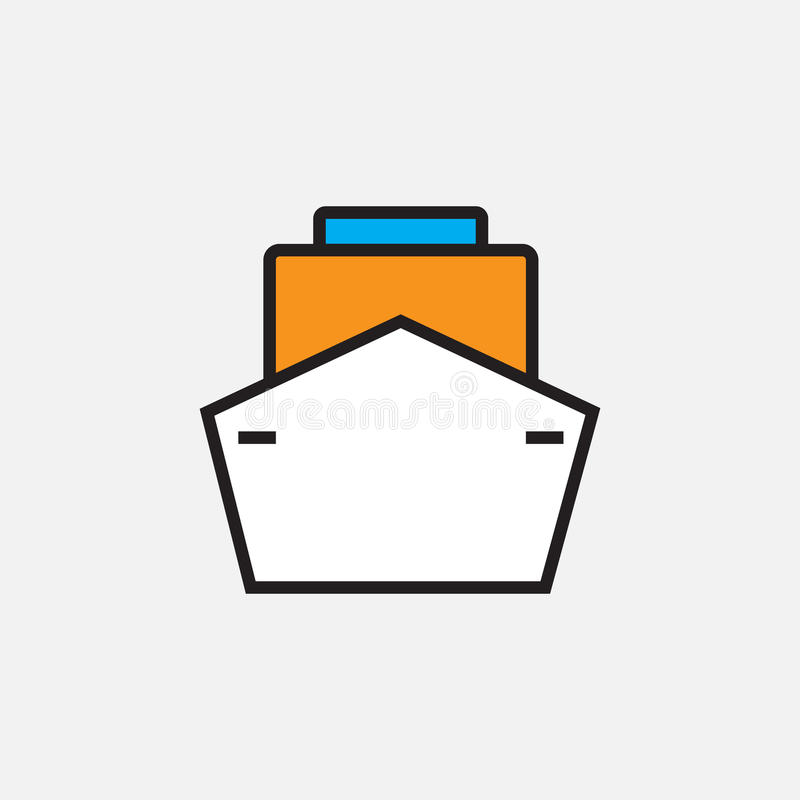 Envíe el icono, ejemplo del logotipo del vector del esquema, pictograma linear llenado del color aislado en blanco ilustración del vector
