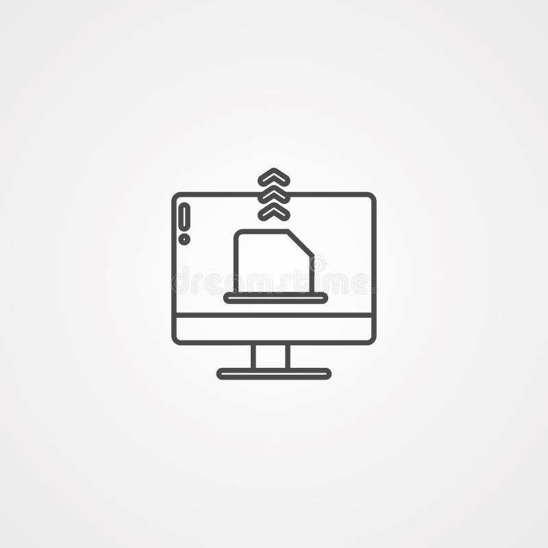 Envíe el símbolo de la muestra del icono del vector ilustración del vector