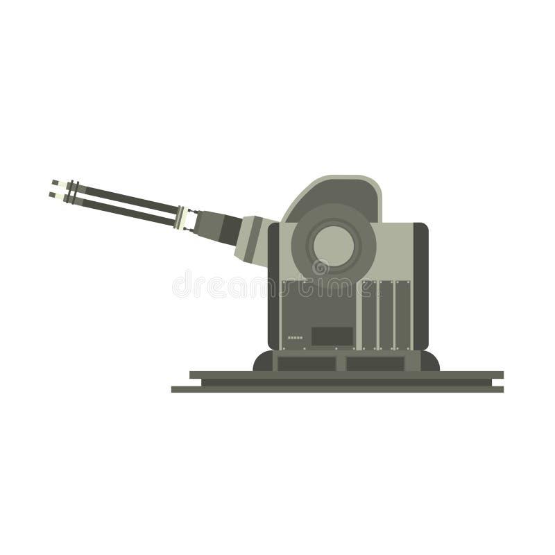Envíe el vector militar de la silueta del barco del acorazado de la batalla de la marina de guerra del buque de guerra ilustración del vector