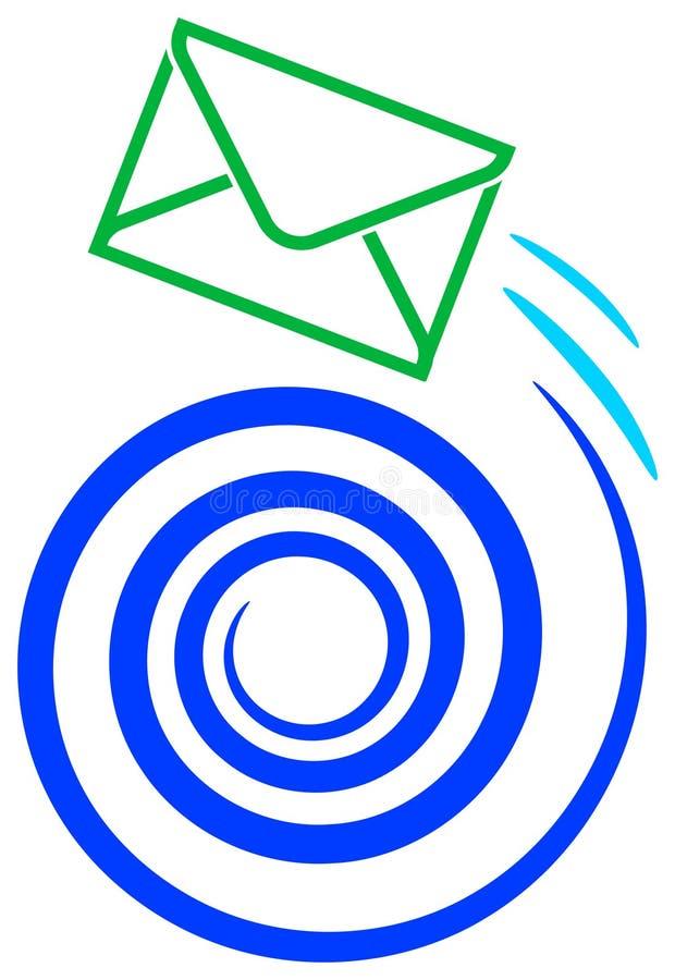 Envíe la insignia ilustración del vector