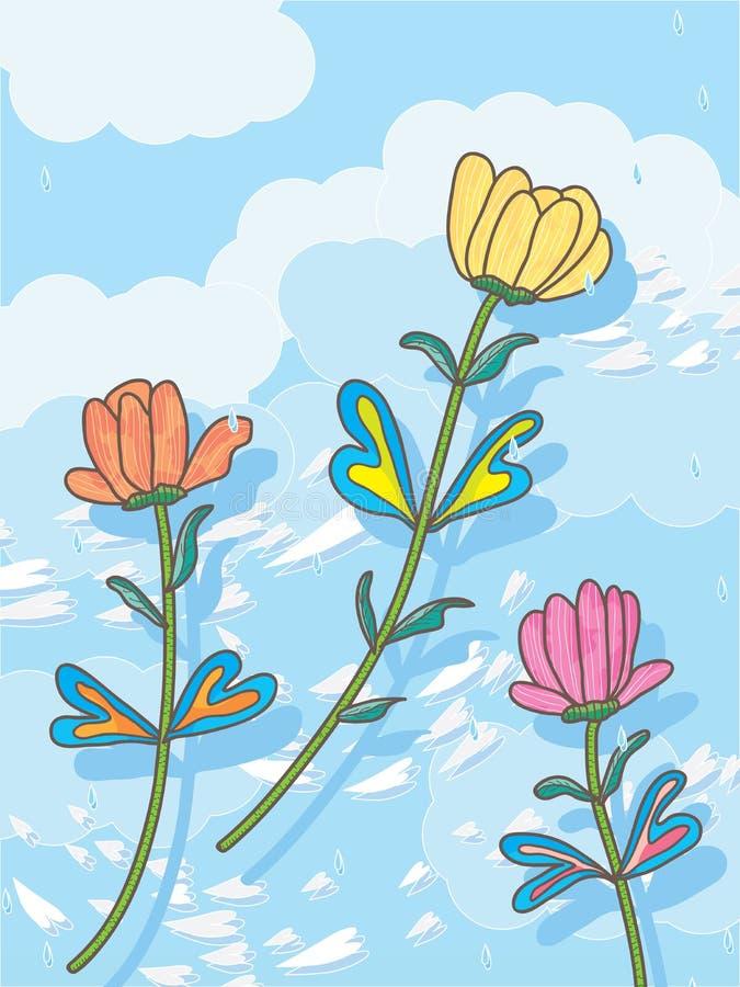 Envíe las flores al cielo libre illustration