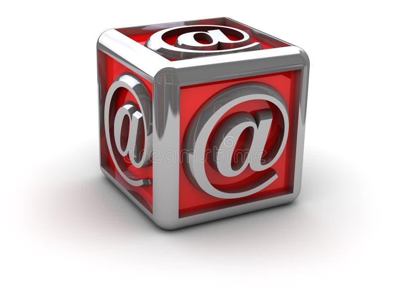 Envíe por correo electrónico alias en rectángulo ilustración del vector