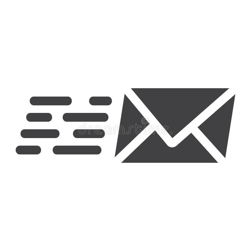 Envíe por correo electrónico el icono, el seo y el desarrollo del glyph del márketing libre illustration