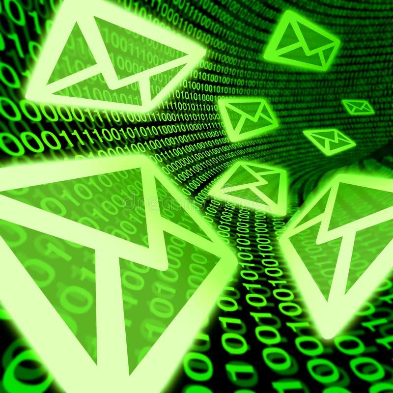 Envíe por correo electrónico a email el Spam digital del correo símbolo del código binario stock de ilustración