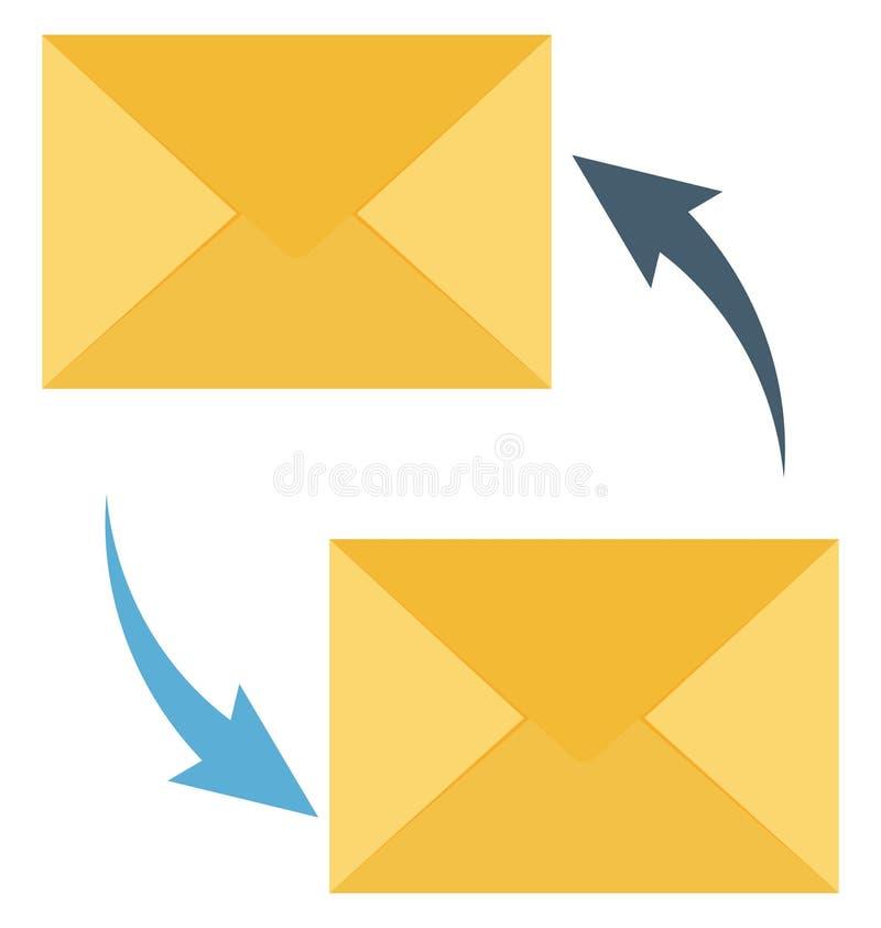 Envíe por correo electrónico la publicidad, la transferencia aislada que puede estar fácilmente corrige o se modificó ilustración del vector