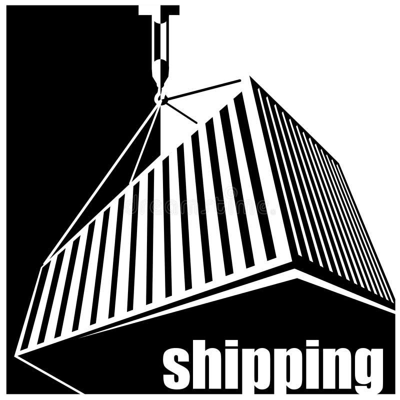 Envío blanco y negro libre illustration