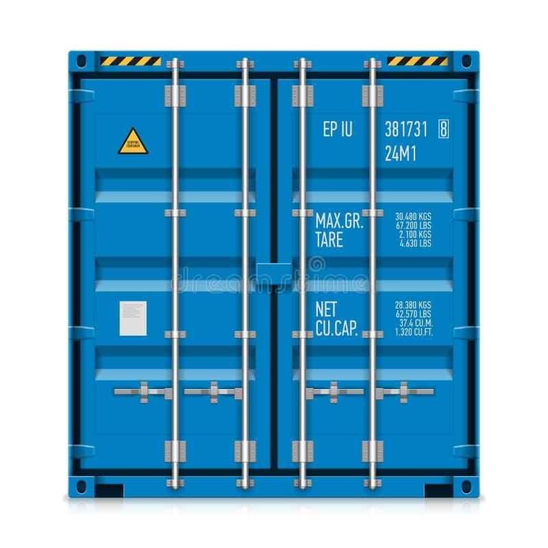 Envío de la carga, contenedor para mercancías stock de ilustración