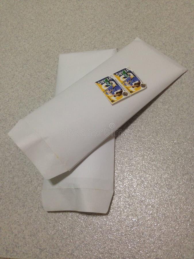 Envío de letras imagen de archivo libre de regalías