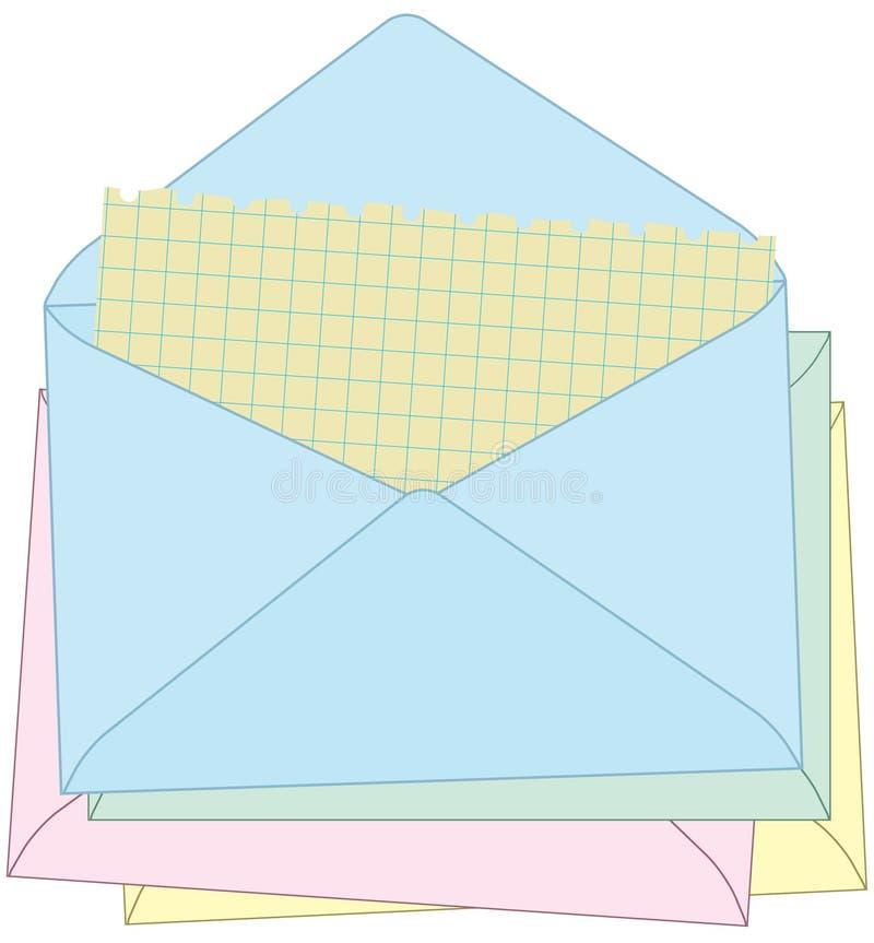 Envío de mi correo. stock de ilustración