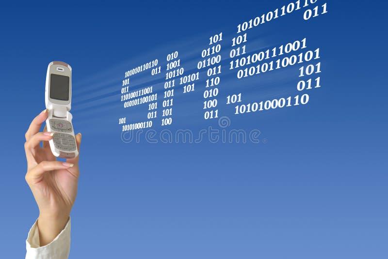 Envío de SMS stock de ilustración