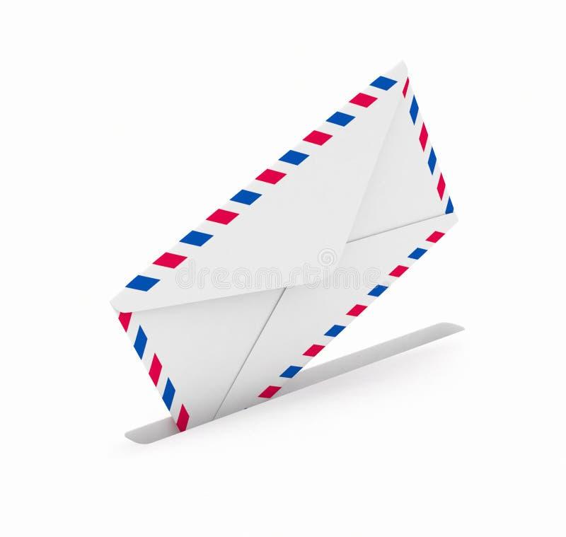 Envío del correo. ilustración del vector