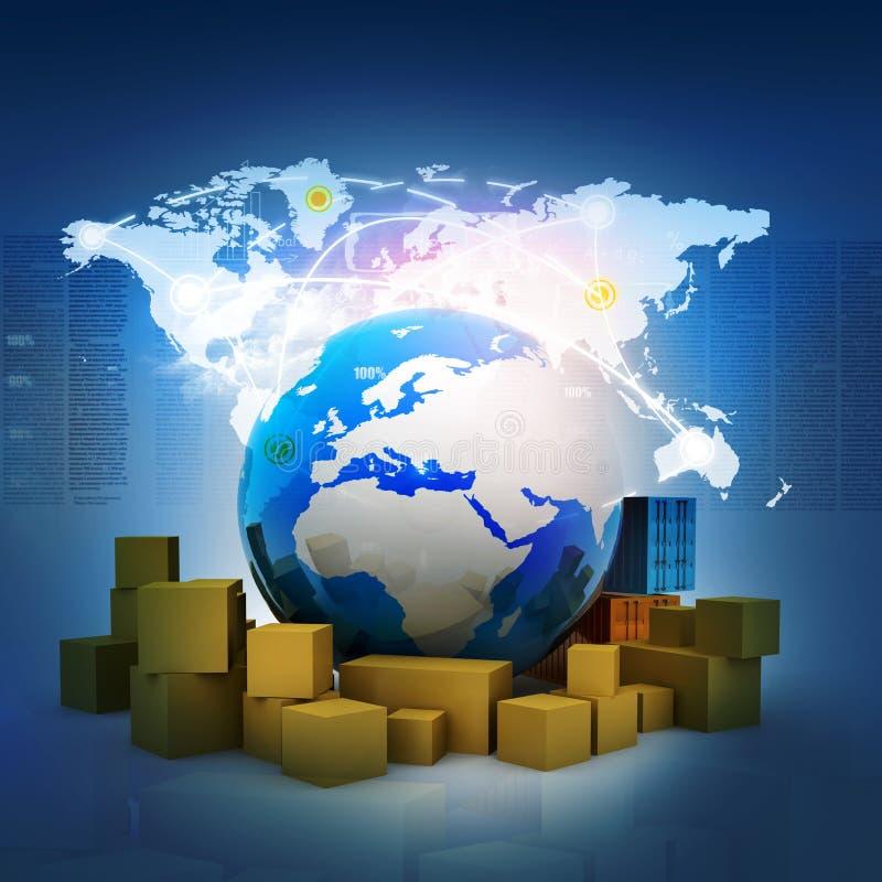 Envío global ilustración del vector