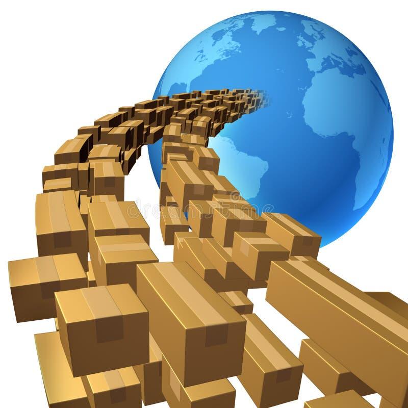 Envío internacional stock de ilustración