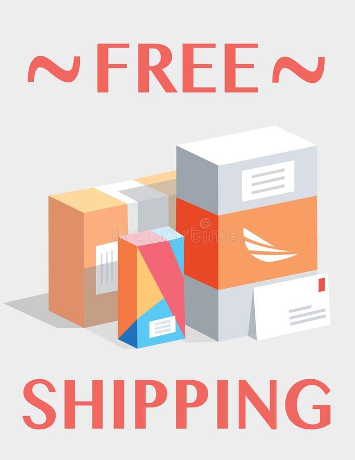 Envío libre Cajas del correo, paquetes libre illustration