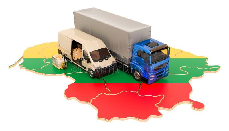 Envío y entrega en el concepto de Lituania, representación 3D libre illustration
