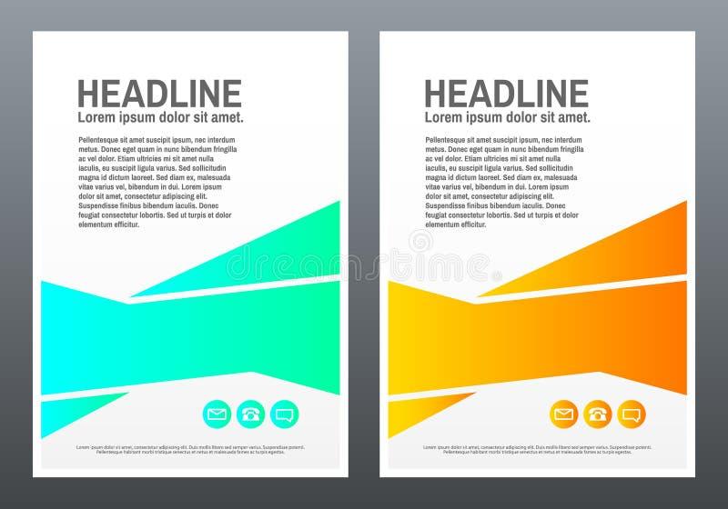ENV 10 Helle Formen auf weißem Hintergrund Kreatives Design für Flieger, Fahne, Plakat in a4 trendy stock abbildung