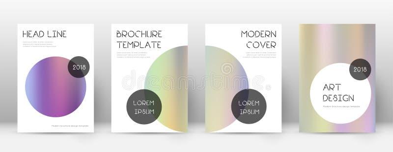 ENV 10 Modische große Schablone für Broschüre, lizenzfreie abbildung