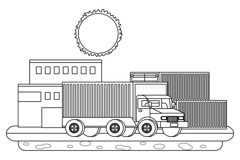 Env?o de seguimiento del servicio de la entrega log?stico ilustración del vector