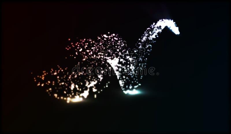 ENV 10 Stella cadente scintillare di vettore Traccia di Stardust Onda brillante cosmica royalty illustrazione gratis