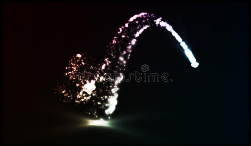 ENV 10 Vektorfunkelnsternschnuppe Stardust-Spur Kosmische funkelnde Welle vektor abbildung