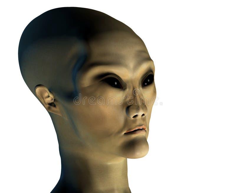 Envahisseur étranger 3 avec le masque de découpage illustration de vecteur