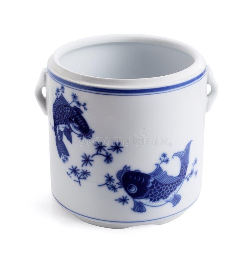 Envase chino de la porcelana imágenes de archivo libres de regalías