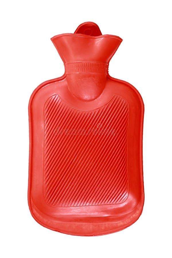 envase de la agua caliente aislado en blanco fotografía de archivo libre de regalías
