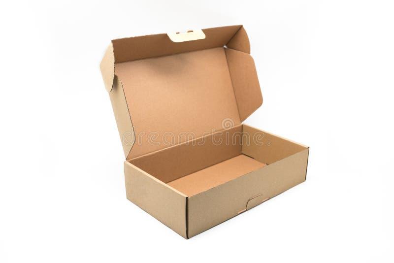 Envase de la caja del arte en un fondo blanco foto de archivo