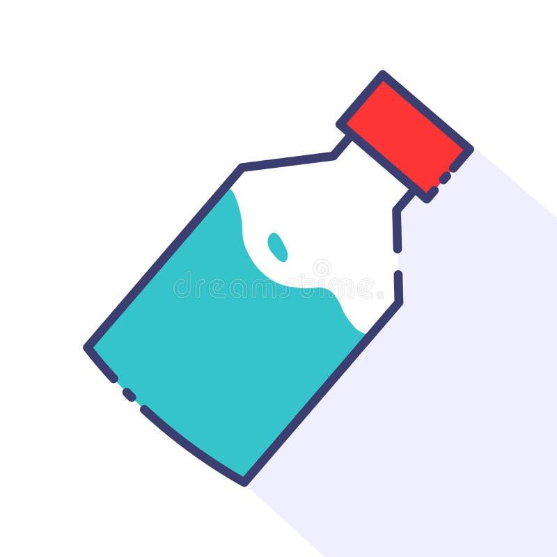 Envase de la medicina de la botella stock de ilustración